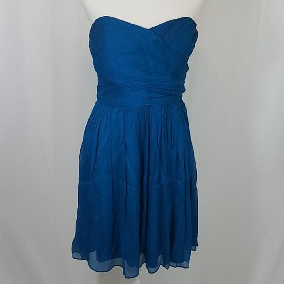 J. Crew Dresses & Skirts - J Crew Teal Blue Strapless Dress 10